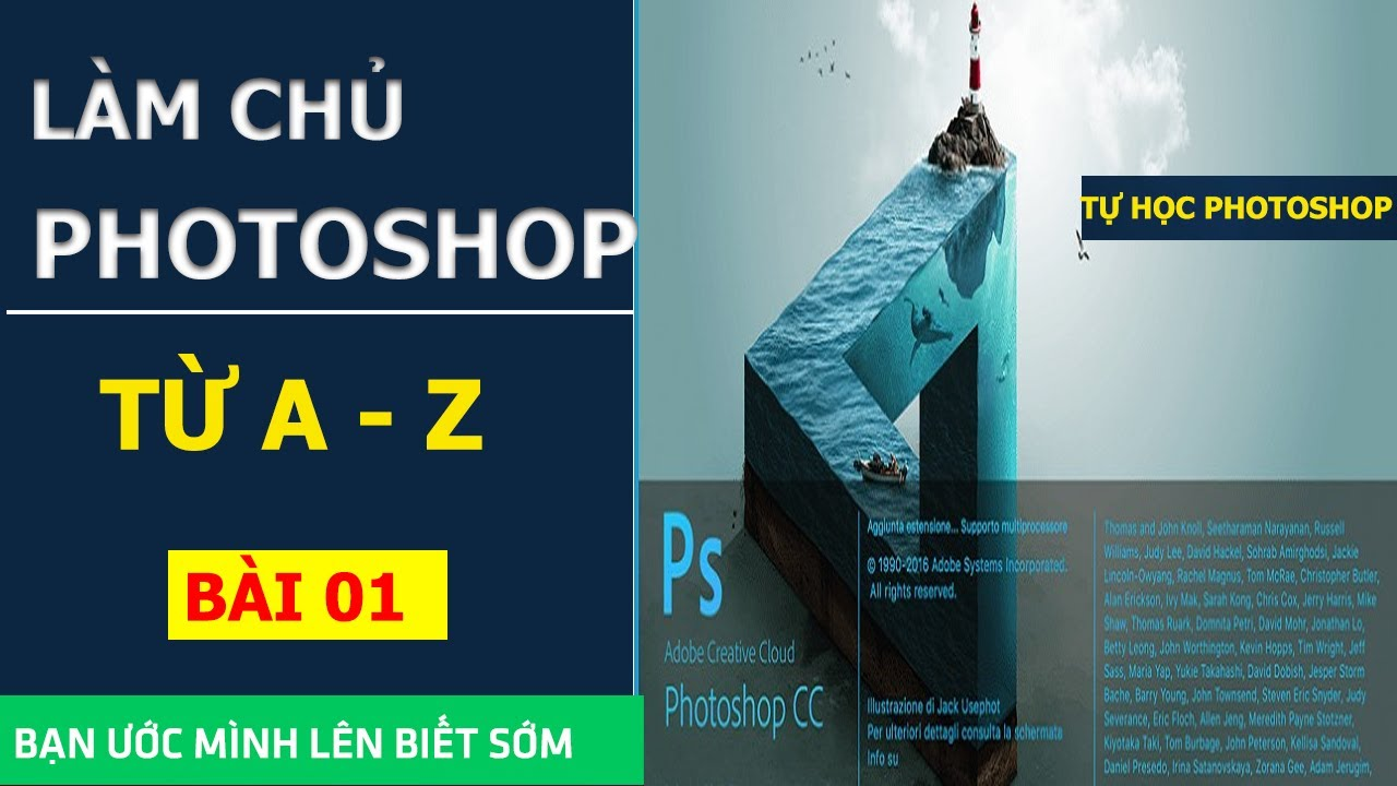 Tự học photoshop từ A-Z| Bài 01