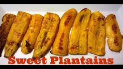 Baked Sweet Plantains - No Oil Needed