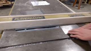 90 degree bend in aluminum using a table saw