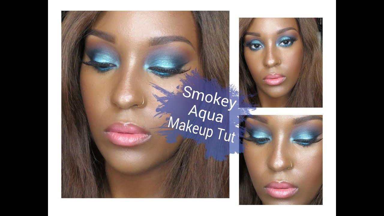 Somkey Aqua Makeup Tutorial Ft. Ibiza Eyeshadow - YouTube