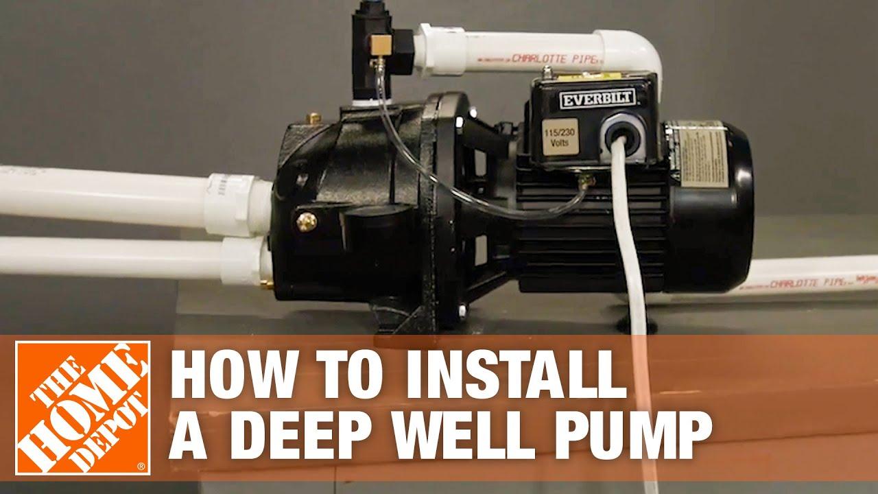 Deep Well Pump Everbilt Jet Well Pump Installation Youtube