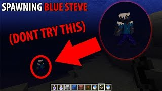 What happens if you spawn BLUE STEVE in Minecraft? (DO NOT ATTEMPT)