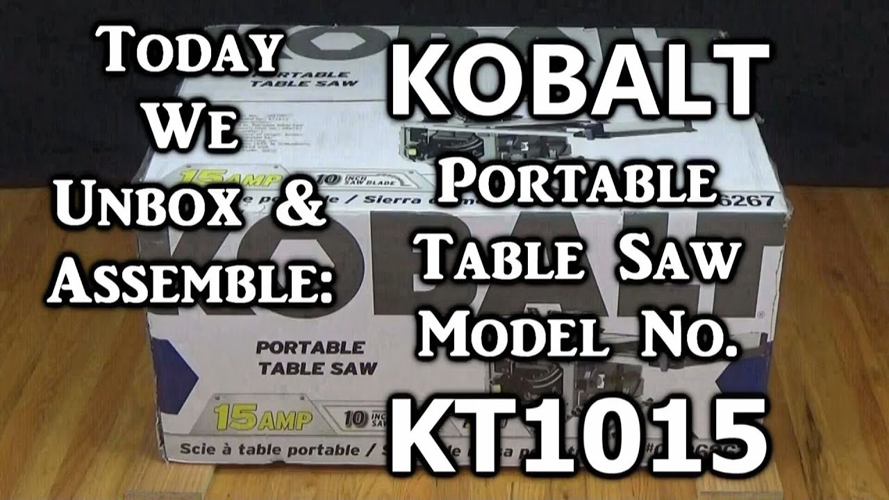 maxresdefault today we unbox and assemble kobalt table saw model kt1015 youtube Powermatic 66 Table Saw at crackthecode.co