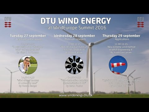 DTU Wind Energy at WindEurope Summit 2016 | Conferences