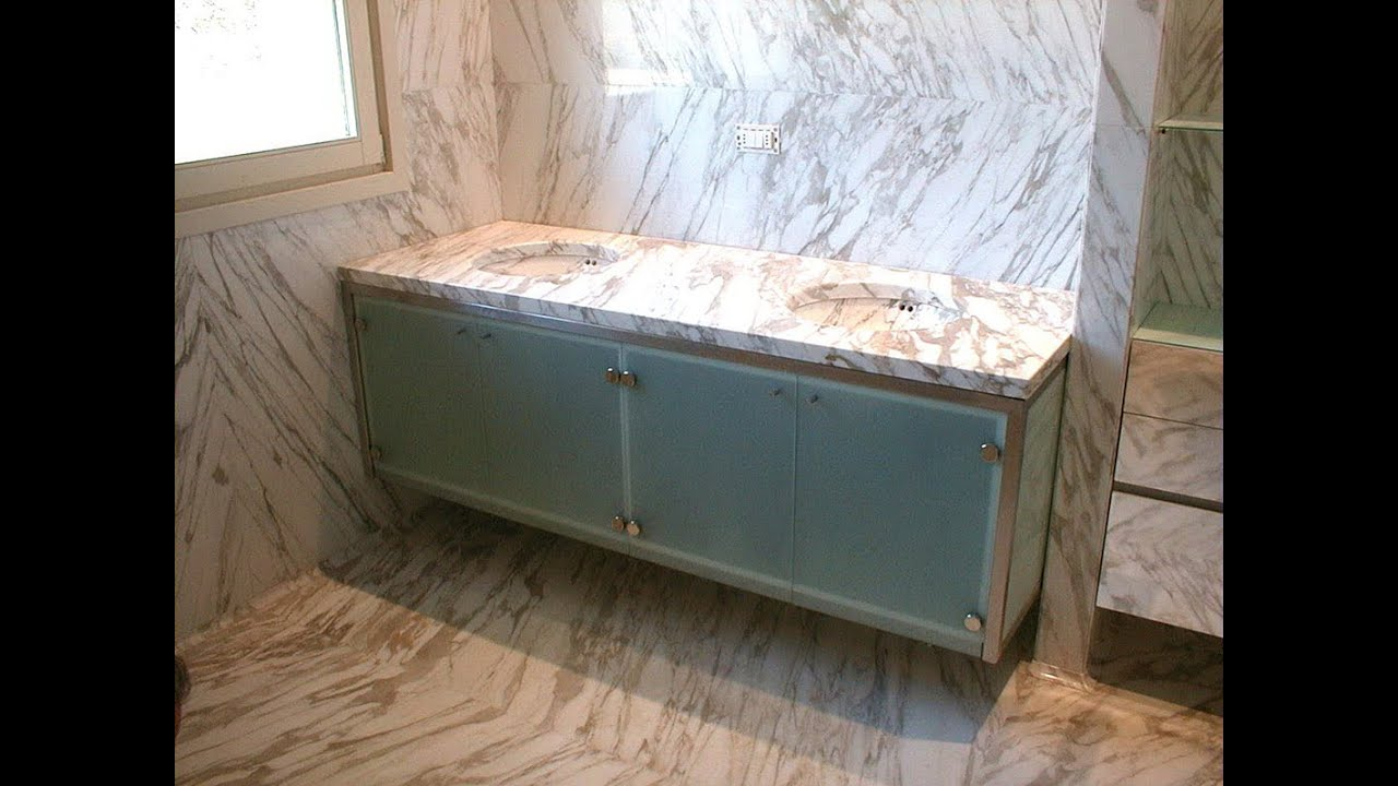 Rivestimenti bagni in marmo - YouTube