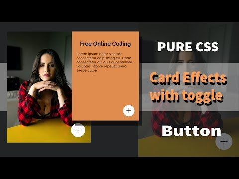 2019 Awesome Pure CSS Card Effects With Toggle Button   Html CSS thumbnail