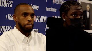 Jrue Holiday and Khris Middleton Playoff Press Conference