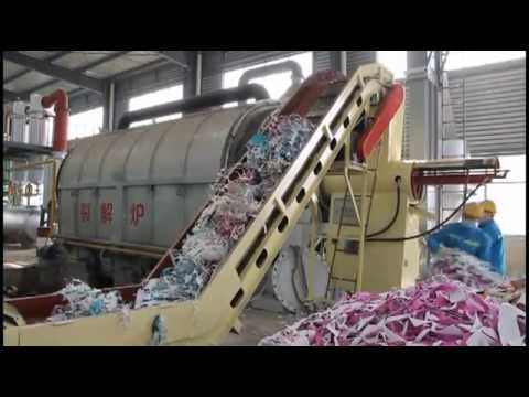 semiautomatic waste tyre(plastic) pyrolysis plant