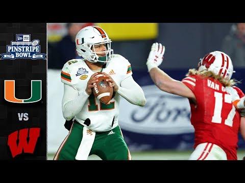 Miami vs. Wisconsin Pinstripe Bowl Highlights (2018)