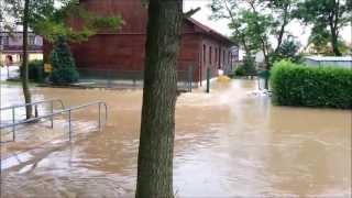 Podtopione Iwanowice Włościańskie, przedszkole, pola, domy 2013-06-24