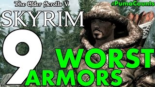 Top 9 Worst Armor Sets in the Elder Scrolls Skyrim Remastered (Special Edition) #PumaCounts