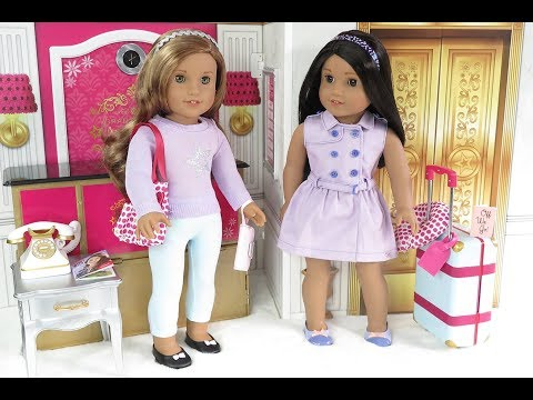 American Girl Doll Travel Accessories Review ~ Suitcase, Travel Accessories,  Travel Outfit