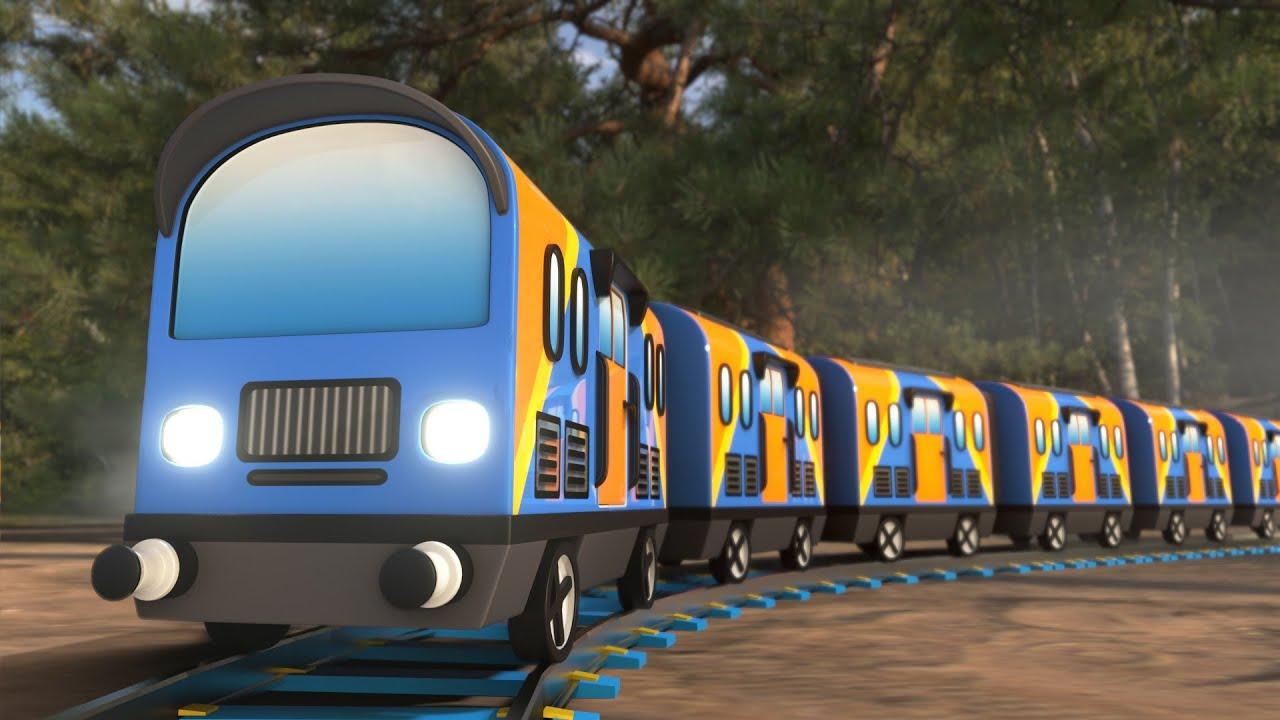 Lego Train cart fail - lego city cartoon - choo choo train kids videos