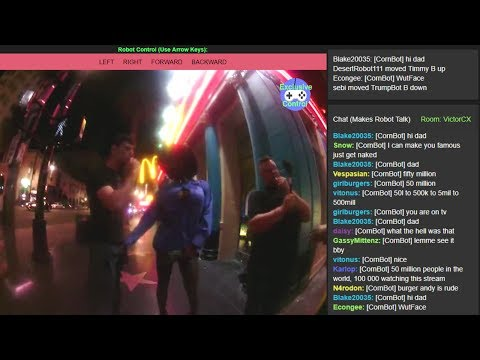 Secret Stream - TTS Robot SET LOOSE on Hollywood Blvd (Letsrobot.tv) [07/27/2017]