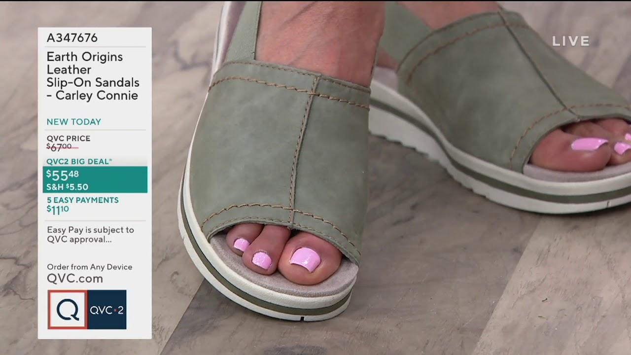 Earth Origins Leather Slip-On Sandals