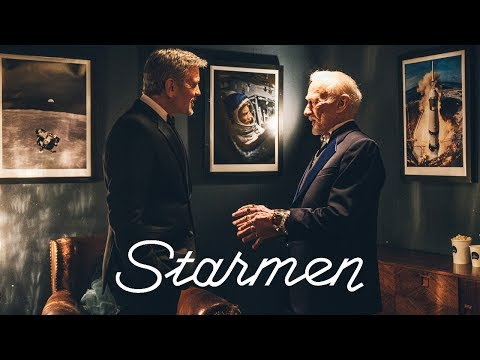 """""""Starmen"""" with George Clooney and Buzz Aldrin"""