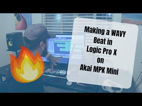 Making a Wavy Beat In Logic Pro X on Akai MPK Mini (It's a Vibe!!)