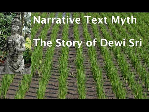 Example Of Narrative Myth Dewi Sri