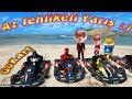 GoKart Arabaları ile Eğlenceli Yarış Örümcek Bebek Örümcek Çocuk Venom ve Meraklı Yarışıyor