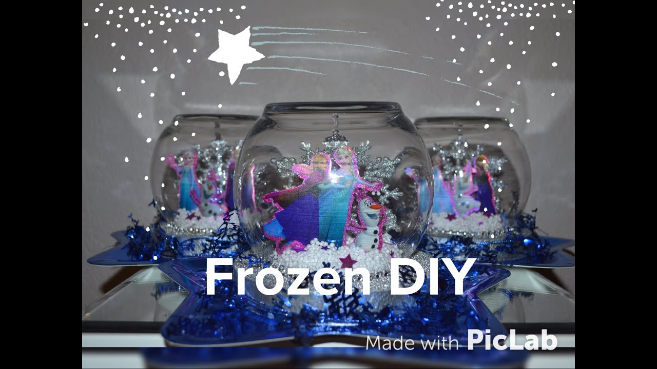 Christmas Decorating Ideas Dollar Tree Frozen Party Centerpiece Diy Easy Snow Globe