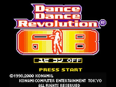 Dance Dance Revolution Level Select & Tracklist on Game Boy Color (8-bit DDR on GBC)