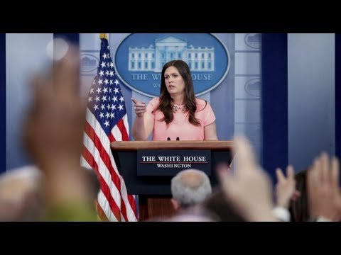 LIVE: Sarah Sanders Press Briefing from the White House Press Room Trump RAISE act Announcement