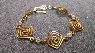simple Square bracelet - Wire Wrapping Tutorials 232