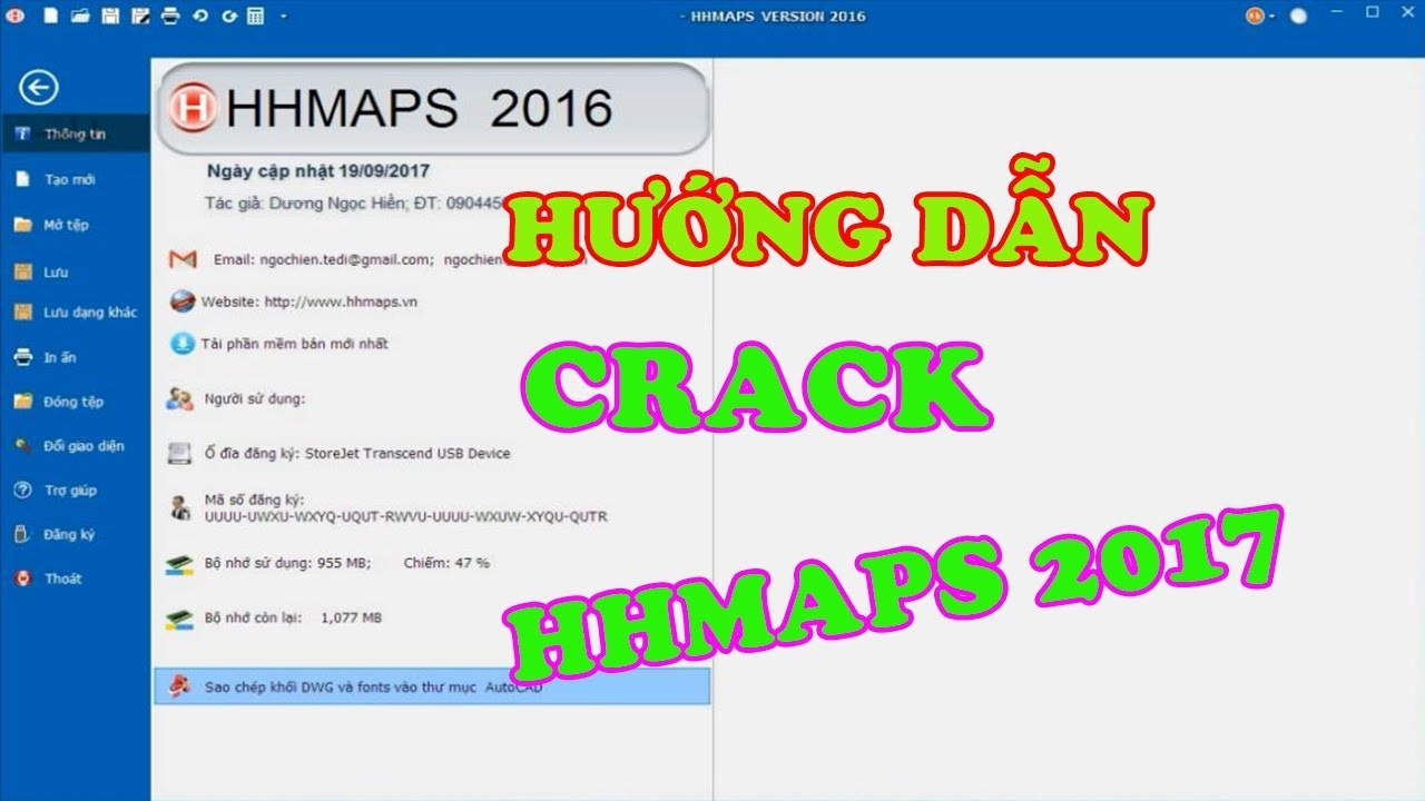 VIDEO HƯỚNG DẪN CRACK PHẦN MỀM HHMAPS 2017-[softvietcrack]