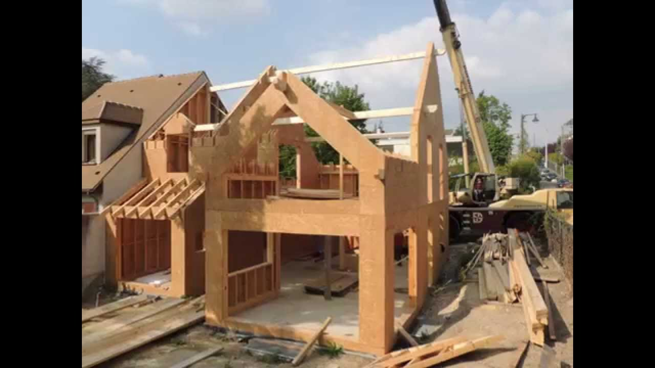 Construction bois maison bois kit youtube for Prix une maison a construire