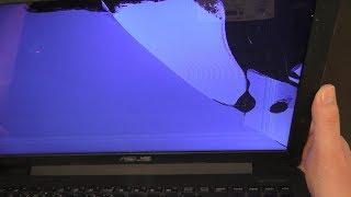 Ремонт замена экрана ноутбука Asus X554L.