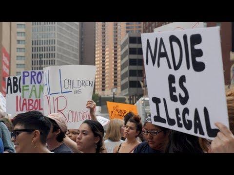 Hundreds Protest Immigration Raids Ahead of Democratic Debate