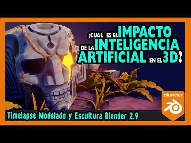 🤖 Como AFECTA la INTELIGENCIA ARTIFICIAL en el trabajo 3D  Escultura digital blender 2.9  Magnaomega