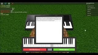 """Cómo tocar llámame tal vez en el roblox de piano """"Notas en Decription"""""""