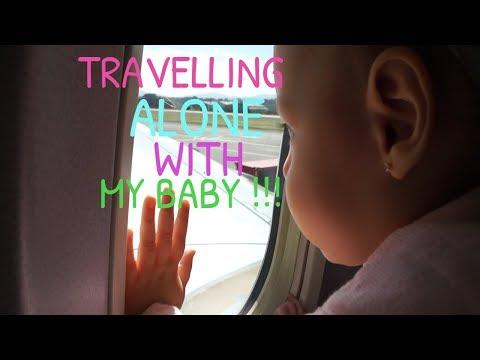 FLYING ALONE INTERNATIONAL WITH MY BABY !!!   VLOG   Nathalia Esquivel