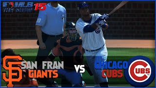 MLB 15 The Show Chicago Cubs Franchise- Soler Power vs San Francisco Giants