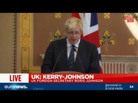 [Full speech] Boris Johnson comments after bilateral meetings with John Kerry