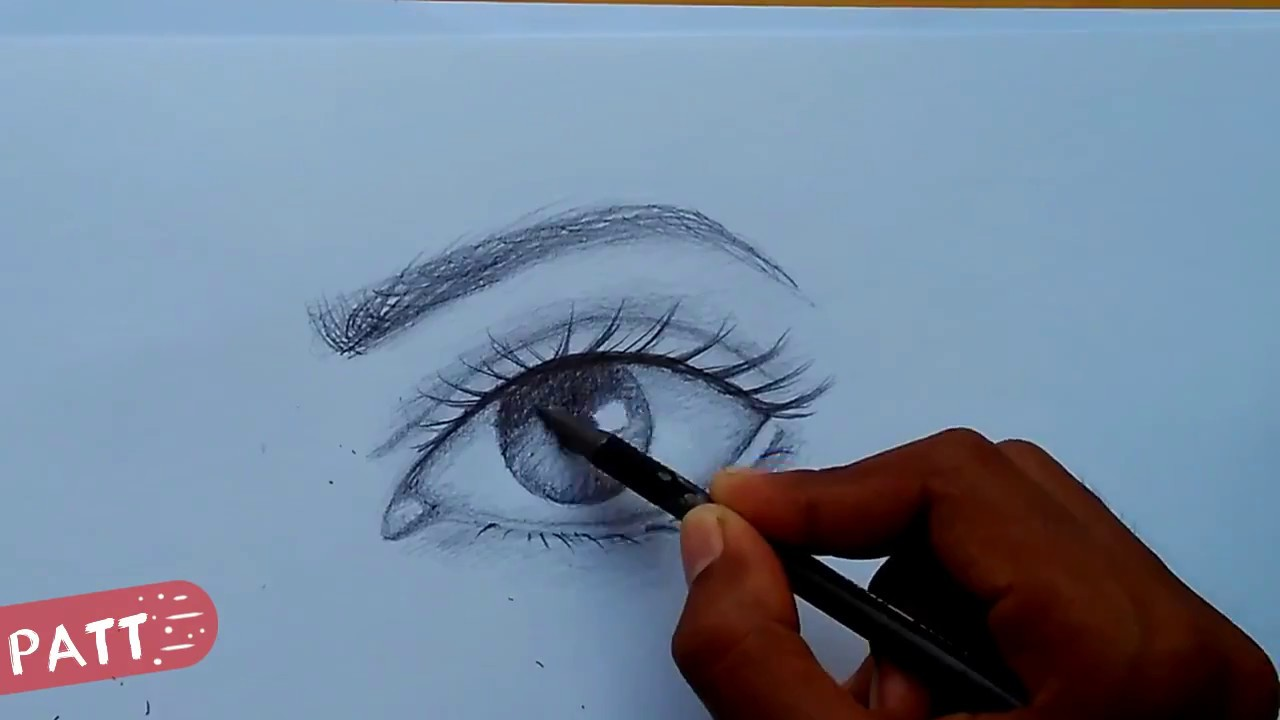 How To Draw Eyes Cara Menggambar Mata Tutorial Youtube