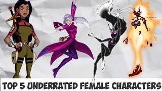 Top5 Underrated Female Characters Of Ben10 Universe II Explain In Hindi II Megazord X II