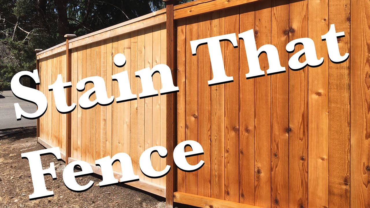 Oil Stain Cedar and Hemlock Privacy Fence