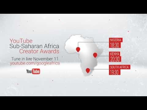 YouTube Creator awards - Sub Saharan Africa