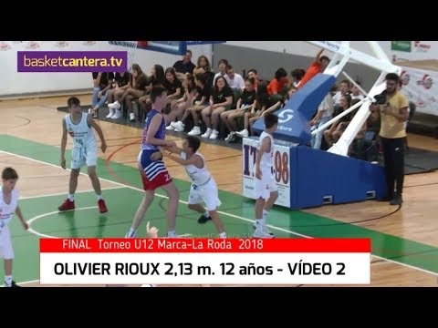 """Nuevo Vídeo: """"OLIVIER RIOUX"""" 2,13 m.  12 años.- Vs. Real Madrid Alevín - VÍDEO 2 ©BasketCantera.TV"""