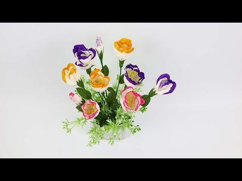 DIY Lisianthus Paper Flowers | How To Make Lisianthus Paper Flowers From Crepe Paper