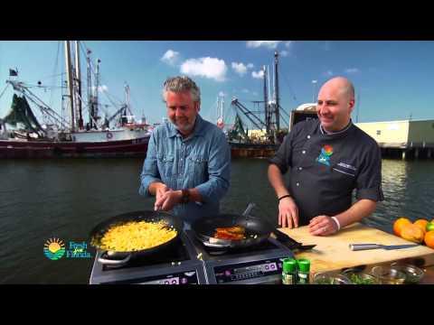 Latin Spiced Florida Amberjack with Corn Relish and Cilantro Oil