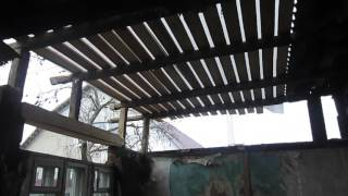 накрываем крышу у пристройки