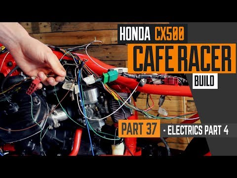 Honda CX500 Cafe Racer Build 37 - Wiring part 4, fitting the harness &  ignition system - YouTubeYouTube