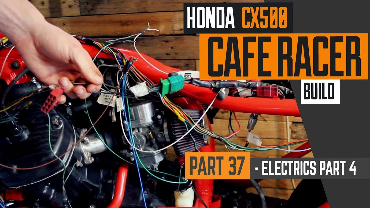 hight resolution of honda cx500 cafe racer build 37 wiring part 4 fitting the harness cx500 wiring harness cx500 wiring harness