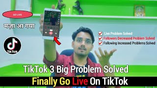 Tik Tok Big Problem 😮 Live Stream Problem Finally Solved TikTok Followers Decreased Problem Solved