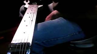 slow low b baritone blues - fouke industrial aluminum lap steel guitar