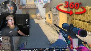 Insane 360 No Scope JUMPSHOT! - CS:GO Awesome Moments #16 (Pro Plays, Clutches,  Highlights)