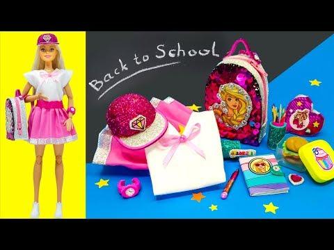 Barbie Doll School Set. Back To School Barbie Hacks DIY Miniature Crafts